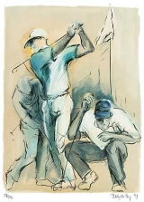 Golf Lithografie People